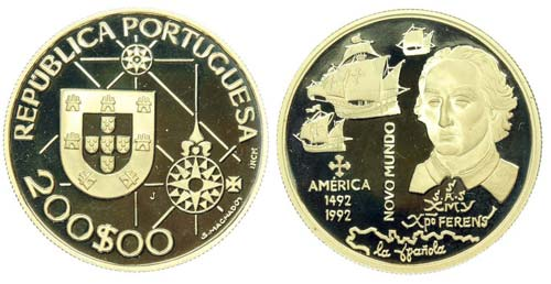 Portugal - Republic - 200$00 1992  ...